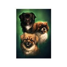 DIY 5D full circle diamond painting cute dog pattern cross stitch mosaic rhinestone home decoration gift