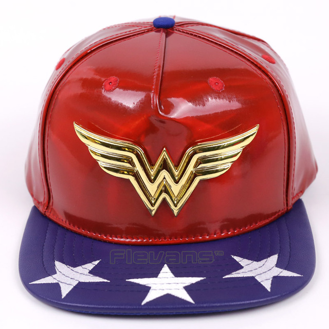 af91df2ec3766 Wonder Woman Leather Baseball Cap