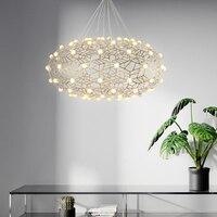 Постмодерн дизайн Звездное позолоченные нержавеющая сталь люстра Nordic простой полые светодио дный светодиодное освещение Ресторан свет Ро