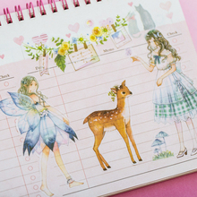 6sheets/lot Deer Fairy Girl Elf Cute Stickers DIY Hand Account Diary Album Decorative Self-adhesive Student Paper Sticker Label