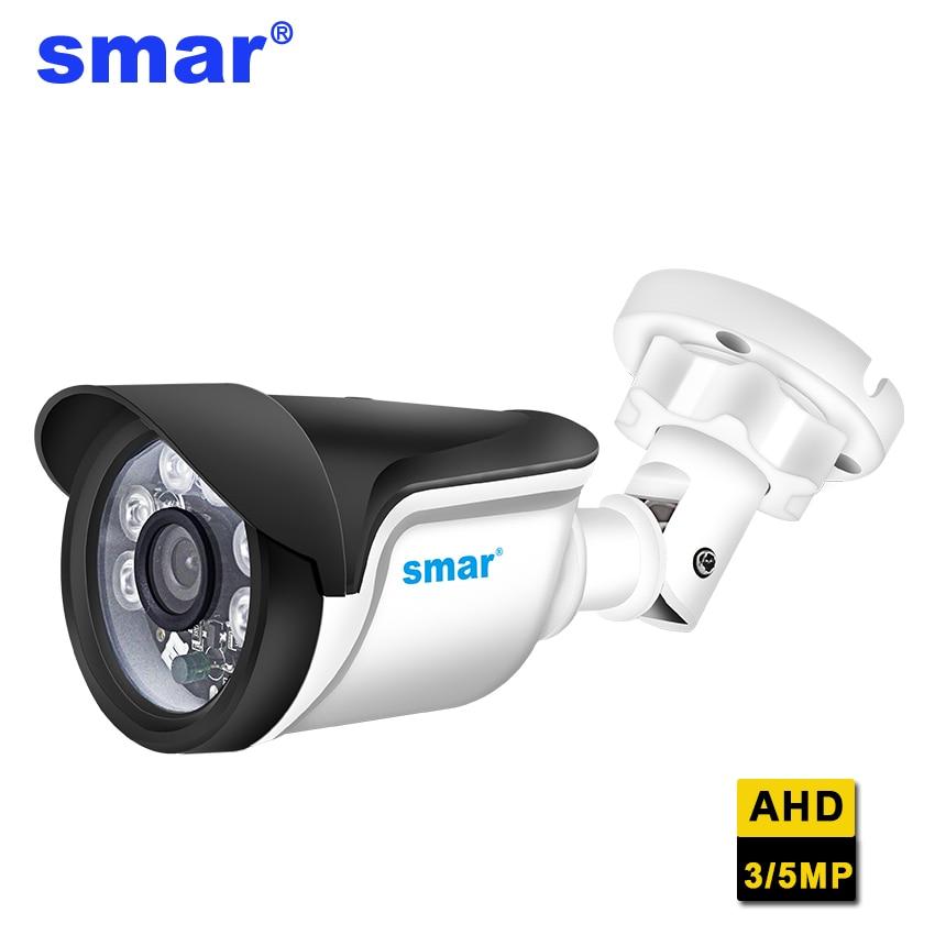 Smar super hd 3mp/5mp bala ahd câmera de vigilância cctv câmera analógica de alta resolução câmeras ir pal ntsc câmera de vídeo ao ar livre
