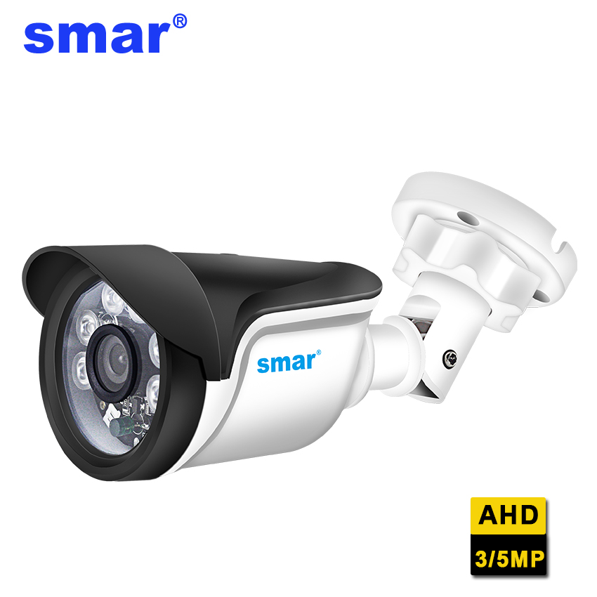 Smar Super HD 3MP/5MP Bullet AHD Camera Surveillance CCTV Analog Camera High Resolution IR Cameras PAL NTSC Outdoor Video Camera