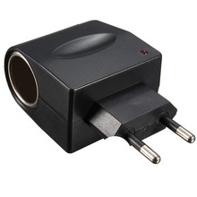 220V AC to 12V DC Car Cigarette Lighter Wall Power Socket Plug Adapter Connector Converter High Qaultiy