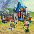 Joyyifor Building Block War of Glory Castle Knights Defend Barrack 3 Figures 112/134pcs Educational Bricks Toys Knight/Elf/Giant
