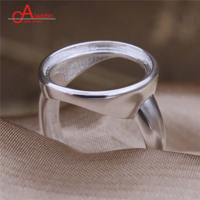 Us 9 29 Aladdin Diy Ring 925 Silver Round Wedding Bands Empty Rings Holder Adjustable Size Custom Made Tension Setting Lovers Jewelry In Engagement