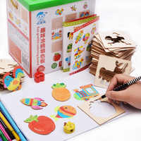 Baby Toys Painting Stencil Templates Coloring Board Children Creative Doodles Early Learning Education Toy For Kids Drawing Toys