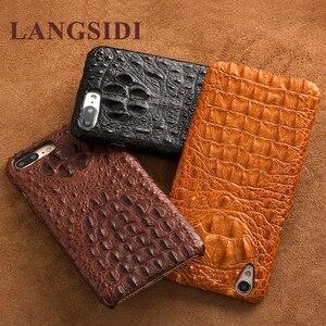 Image 5 - Wangcangli telefon case krokodyl tekstury tylna pokrywa dla iphone X etui na telefony komórkowe pokrywa pełnej obsługi klienta przetwarzanie