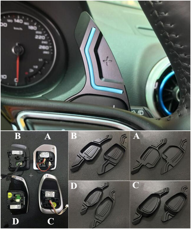 Steering Wheel Paddle Extension Shifter For AUDI A3 A4 A5 A6 A7 A8 S3 S4 S5