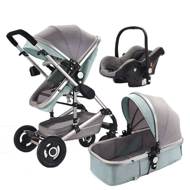 3 in 1 Baby stroller with car seat high landscape folding carriage for newborns luxury baby stroller 3 in 1 carrycot seat 2 in 1 stroller with car seat baby carriage high landscape pram for newborns