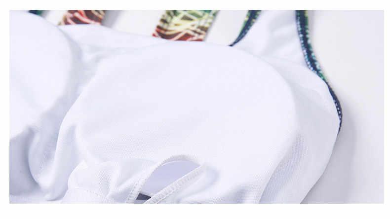 One Piece Swimsuit Olahraga Baju Renang Wanita Training Baju Renang Patchwork Baju Renang untuk Wanita Pakaian M-XXL