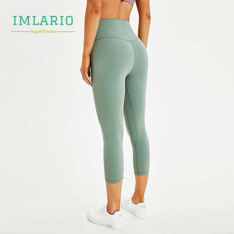 ee4927f90519a Imlario Essential Workout Crop Pants High Waist Women Cottony Soft Sports  Fitness Capri Stretch Yoga Tights