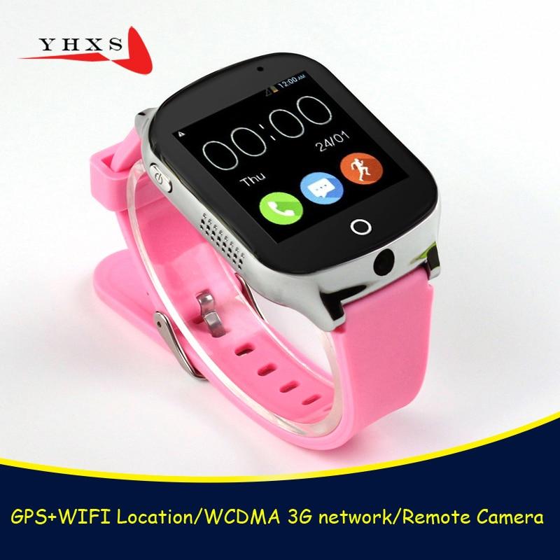 Smart 3G WCDMA Remote Camera GPS WIFI Location Tracker SOS Monitor Child Elder Kids Bluetooth Watch Wristwatch 1.54 Touch Screen