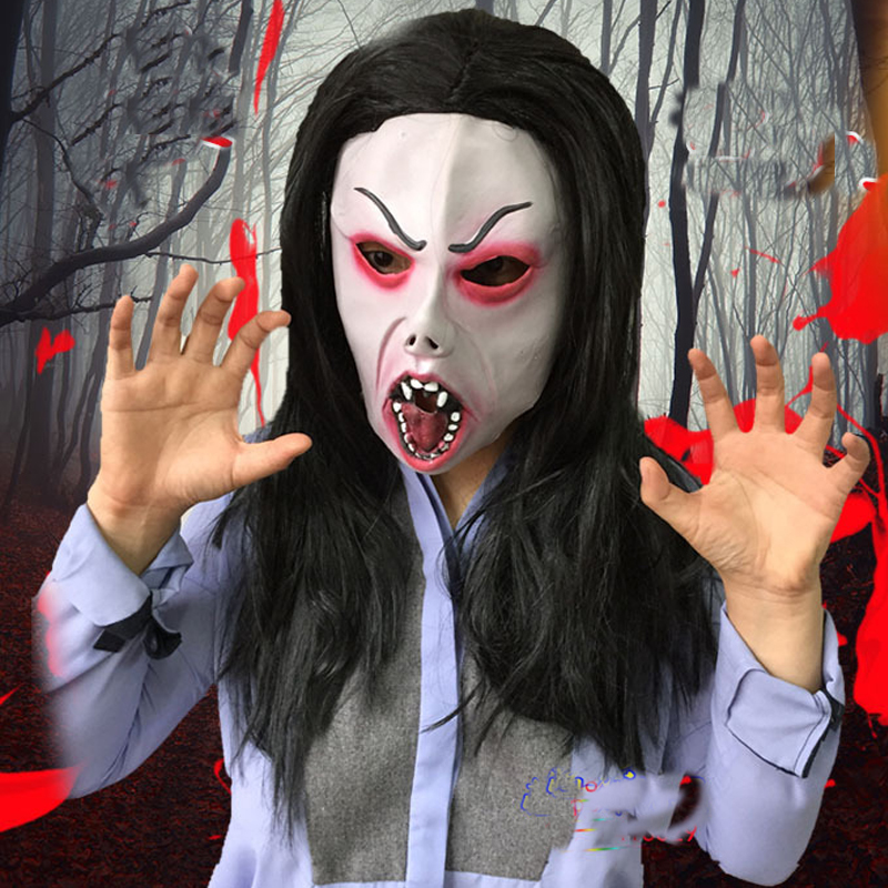 scary vampire latex mask full face zombie horror masquerade adult ghost movie halloween costumes fancy dress - Scary Vampire Halloween Costumes