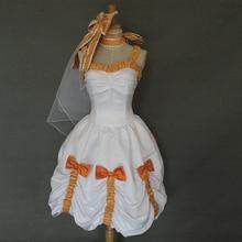 Anime Love live! Cosplay Montó Koizumi Hanayo Mujeres Fancy Dress Vestido de Dama de honor Vestido de Noche Por Encargo