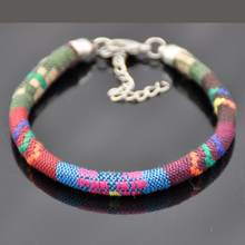 LEMOER 2017 Vintage Bohemian Handmade Multicolor Knitted Ribbon Bracelets Ethnic pulseira For Women Men Wristband Jewelry bijoux(China)