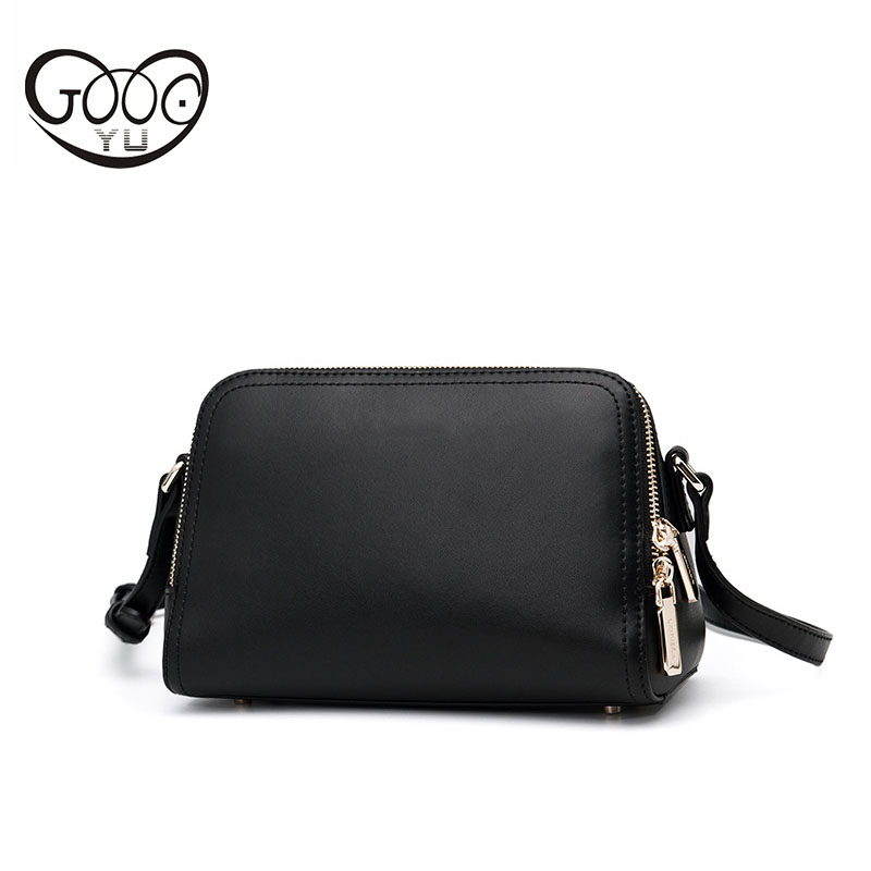 The new fashion wild first layer of leather mini-shoulder Messenger European and American leather multi-color female package qiaobao 2018 new korean version of the first layer of women s leather packet messenger bag female shoulder diagonal cross bag