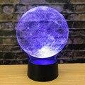 Украшение в виде Луны земли  3d ночник  акриловый креативный стол  3d светильник  прикроватная лампа  креативный подарок  светодиодный ночник