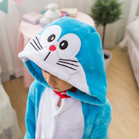 Children Kids Unisex Pajamas Halloween Christmas Doraemon Cosplay Costume Animal Onesie Sleepwear For Boys Girls