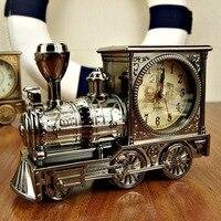アンティークスタイルクラシックプラスチック列車針電子高級目覚まし時計despertadorオフィス装飾装飾品友人ギフト