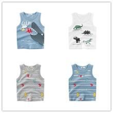 2-8 Y Child Summer T Shirt Toddler Kids Funny Cartoon Sleeveless T-Shirts For Boys Girls Tops shirt Vest