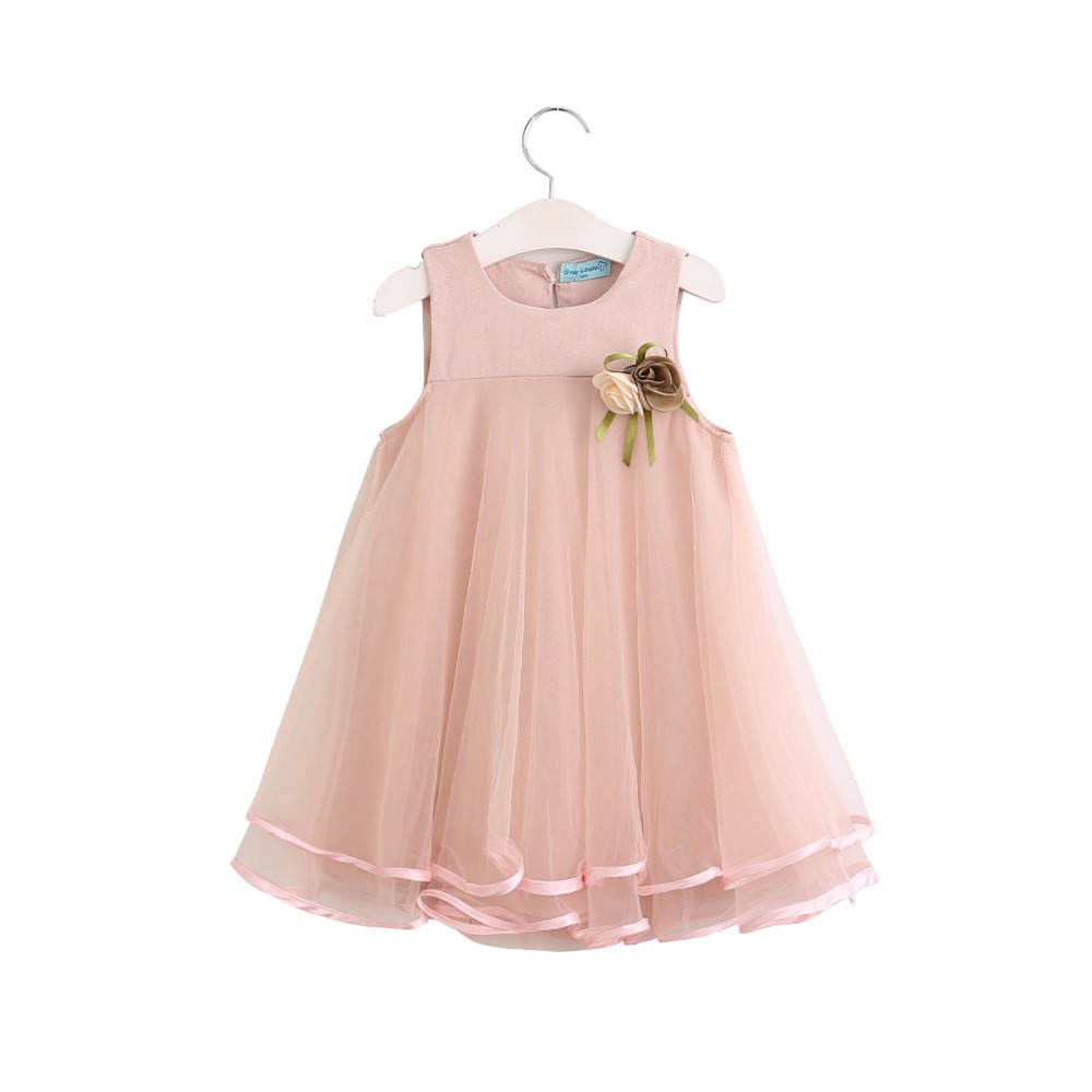 BibiCola Summer Baby Girl Dress Chhildren Sleeveless