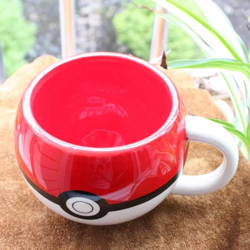 Tazas creativas de cerámica de Pokemon de dibujos animados taza de porcelana de cerámica con bolsillo Handgrip café taza de agua leche Pokemon Bika Qiu taza de regalo