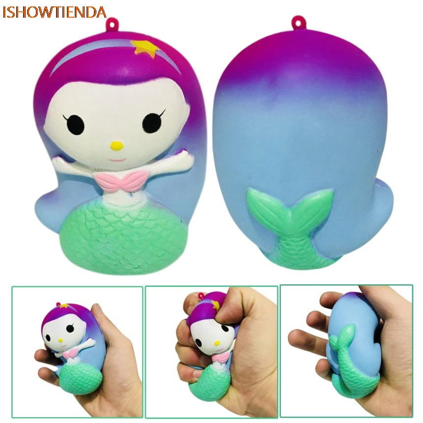 Finger Mermaid Doll Squishy Slow Rising Cream Scented Decompression PU Galaxy Cute Gift Toys Stress Relief Reliever