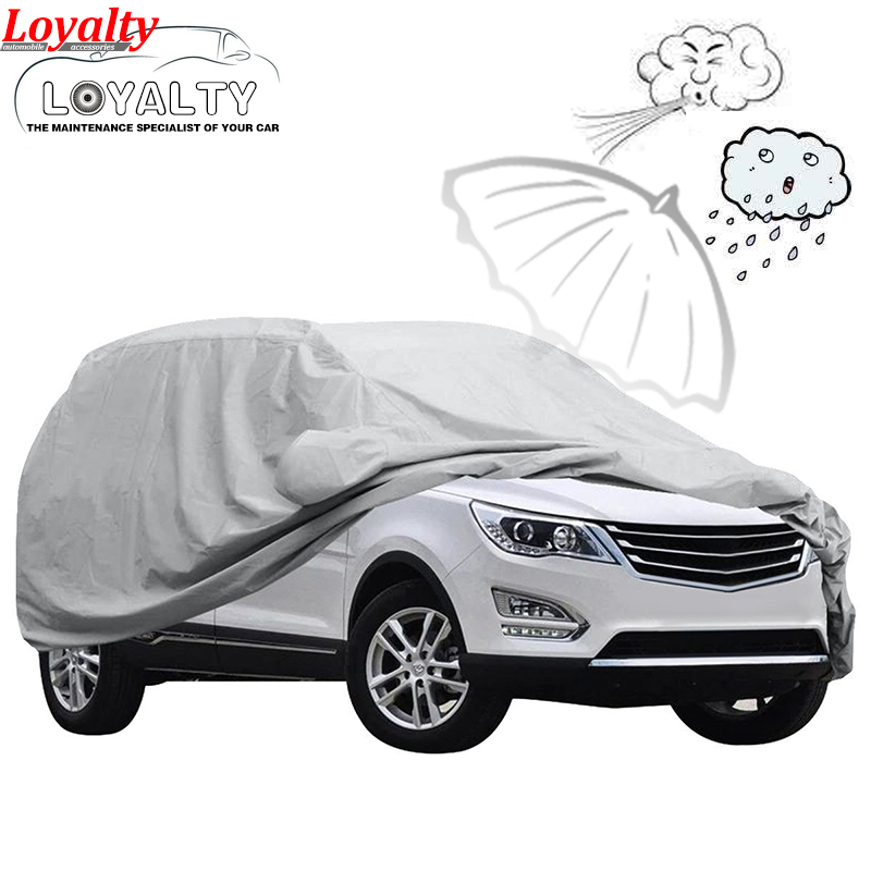Loyalty Car-Covers for SUV Outdoor Sunscreen Heat Protection Dustproof Anti-UV Scratch-Resistant Universal Car Covers