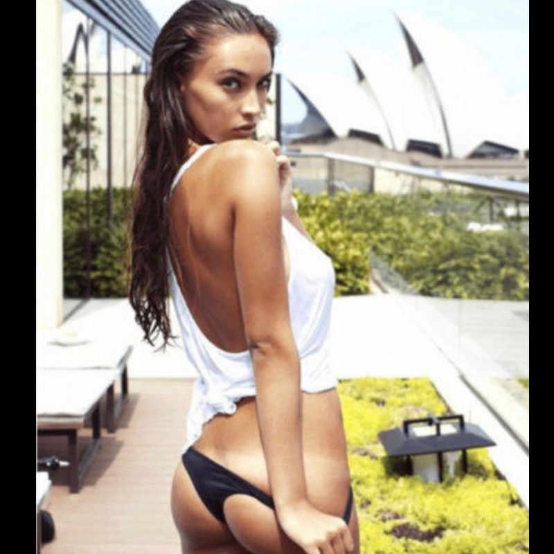 נשים של ברזילאי ביקיני בגדי ים ביקיני משולש בגדי ים מוצק סקסי תחתונים בתוספת גודל S-XXL