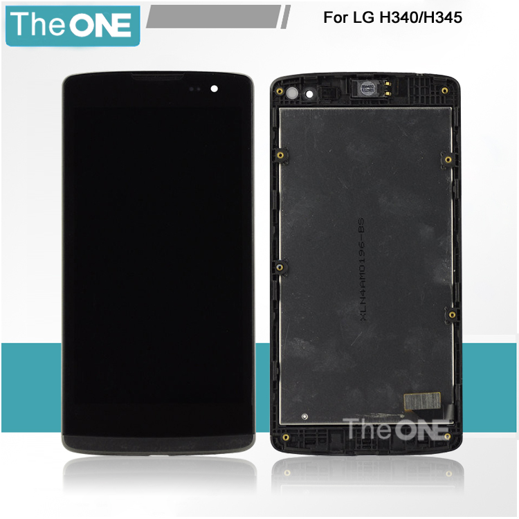 LCD Display + Touch Digitizer Screen glass for LG H340n H340 with frame Black Free Shipping