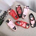 Mickey mini melissa jalea sandalias 2017 del verano sandalias de los niños de mickey minnie princesa de cristal zapatos zapatos de la jalea zapatos de las niñas