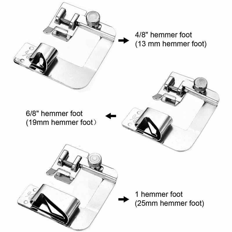 1PC 13/19/22 มม.เครื่องเย็บผ้าในประเทศFoot Presserเท้ารีดสำหรับบราเดอร์นักร้องเย็บอุปกรณ์เสริม 7YJ243