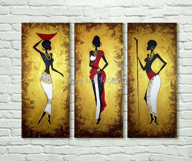 HandPainted Canvas Oil Paintings Modern Africa Woman Abstract oil ...