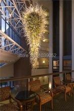 European Modern Light Large Hotel Hand Blown Art Glass Chandelier