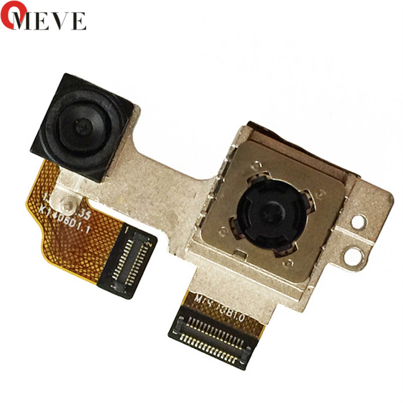Original For HTC One M8 Assembly Big Back Rear Main Camera Module Lens Flex Cable Metal Bracket Connector Module Parts