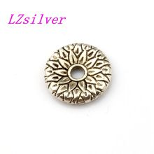 240pcs Tibetan Silver Lotus Flower Pattern Rondelle Spacer Beads 12mm Jewelry DIY LK049