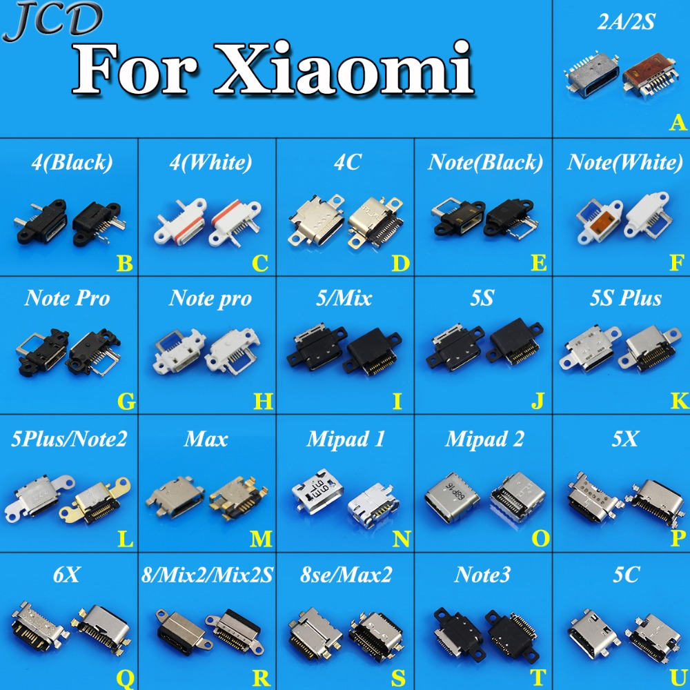 Jcd Micro Usb Connector 5pin Usb Jack Socket Female For Xiaomi Mipad 1 2 5x 6x 8 8se Note 2 3 5c 5 5plus 5s Plus 4 2a 2s Mix Max Computer & Office