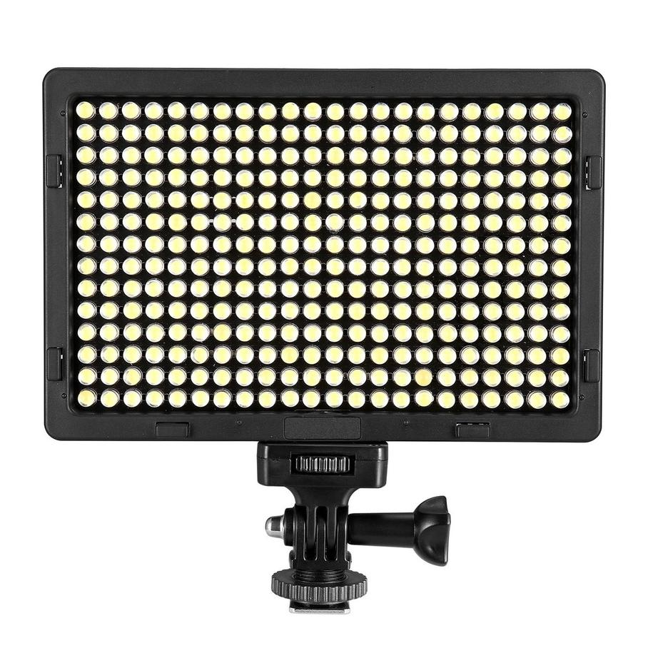 EACHSHOT LED Ultra Bright 5500K Dimmable On Camera Video Light for Digital SLR Cameras with 308 stand as Yongnuo YN300 YN-300
