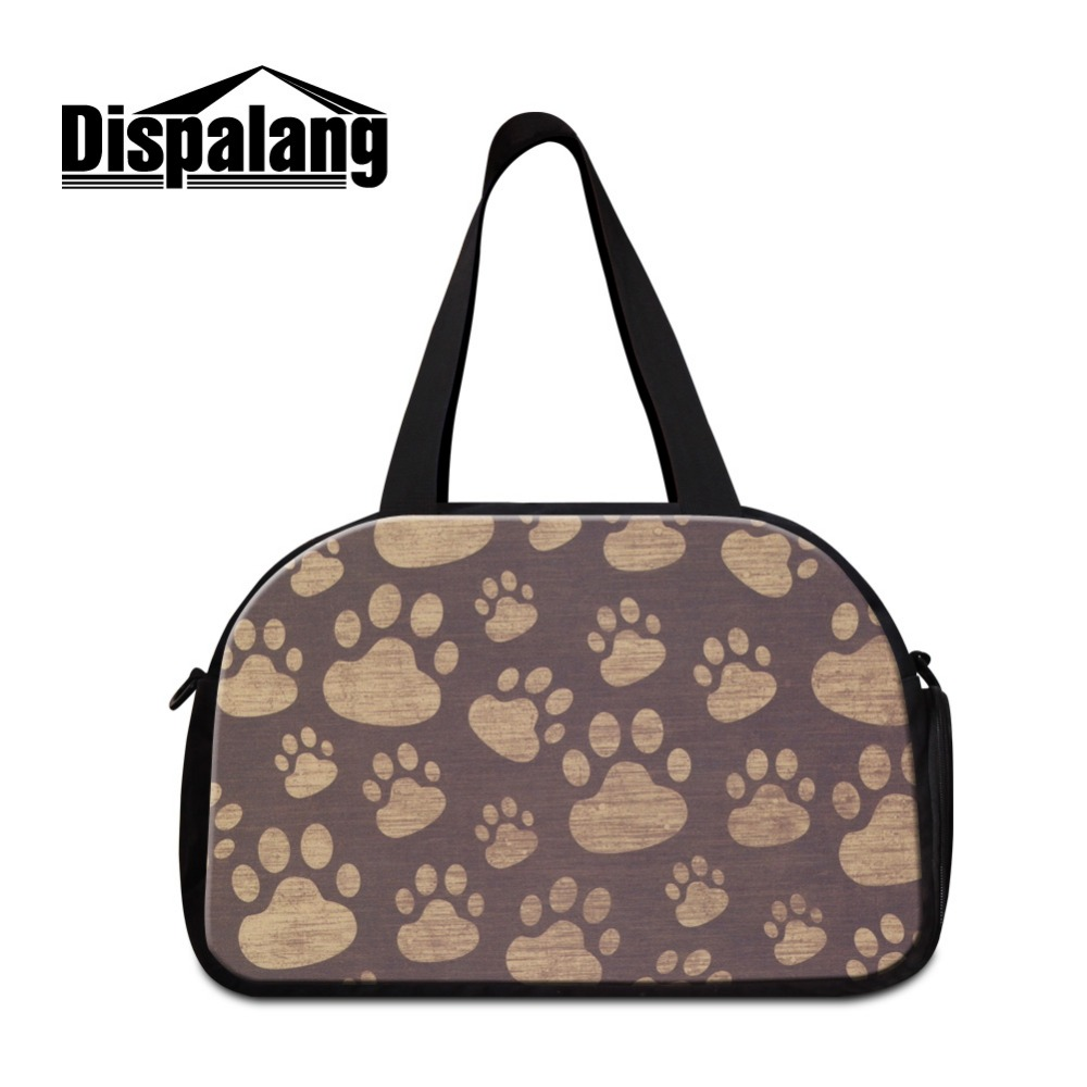 Dispalang Cute Animal Shoulder travel bag for women Large Capacity duffle bag men workout bag with compartment Girls Weekend Bag