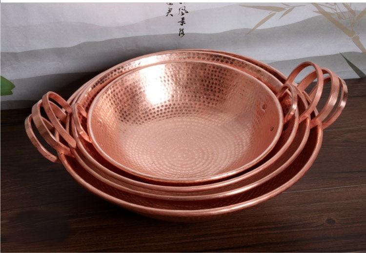 Hecho a mano puro cobre sartén Utensilios de cocina pote púrpura ...