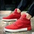 4 Cores Homens Sapatos Moda Casual Homens Sapatos De Luxo Da Marca Negra Botas de alta Top Flats Sapatos Para Homens Chaussure Homme 39-44 w8