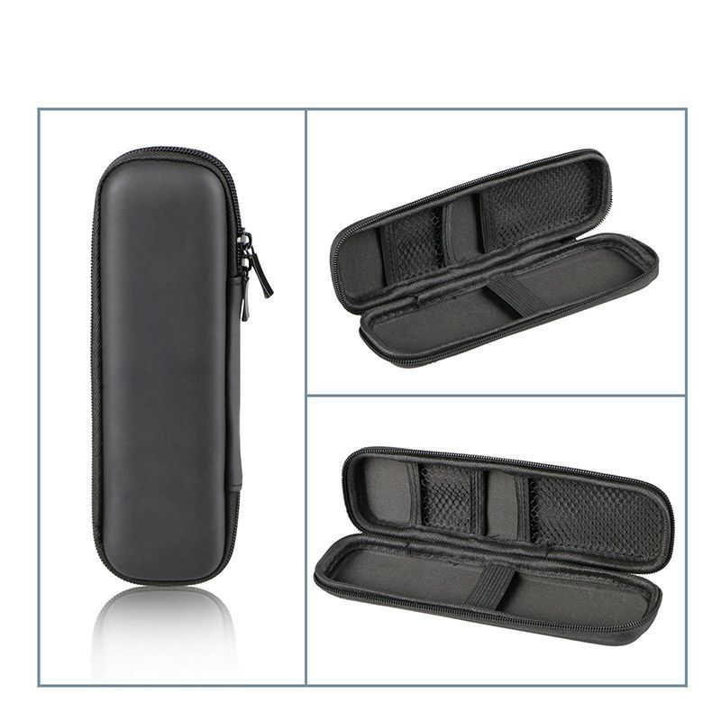 100pcs/lot Black Pen Case Portable EVA Hard Shell Pen Holder Office Stationery Case Pouch Earphone Makeup Storage Bag LX1722