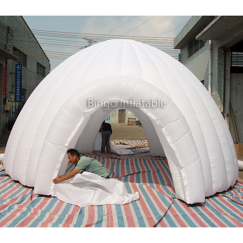 Free Delivery 6X6X3 meters inflatable White Dome Tent / inflatable igloo for Event toy tents factory direct sale 6x6x3 5 m inflatable dome igloo tent for outdoor event high quality blow up all white yurt tent toy tent