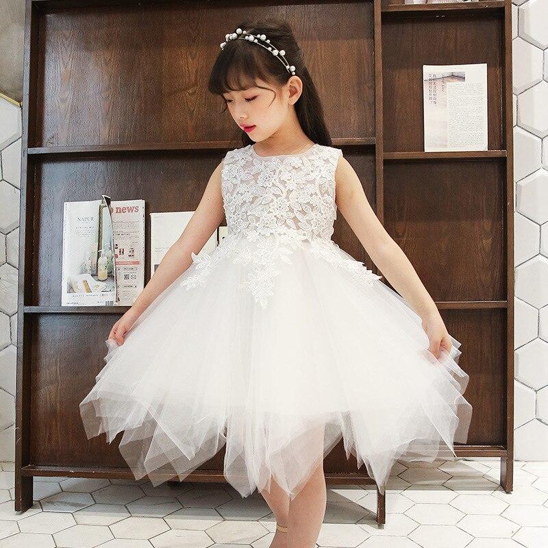 Summer Kids Dresses For Girls Cute Ball Gown Dress Children Princess Dress For Party Wedding Navy White Splice Girls Dress 10 12 цена