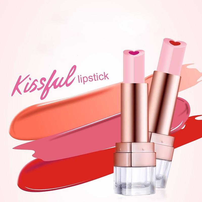 Korean Cosmetics Collagen Sandwich Lipstick Creamy Silky Shinning Baby Lips Plump Lips Lipstick Nourish Hot Sale New 2018