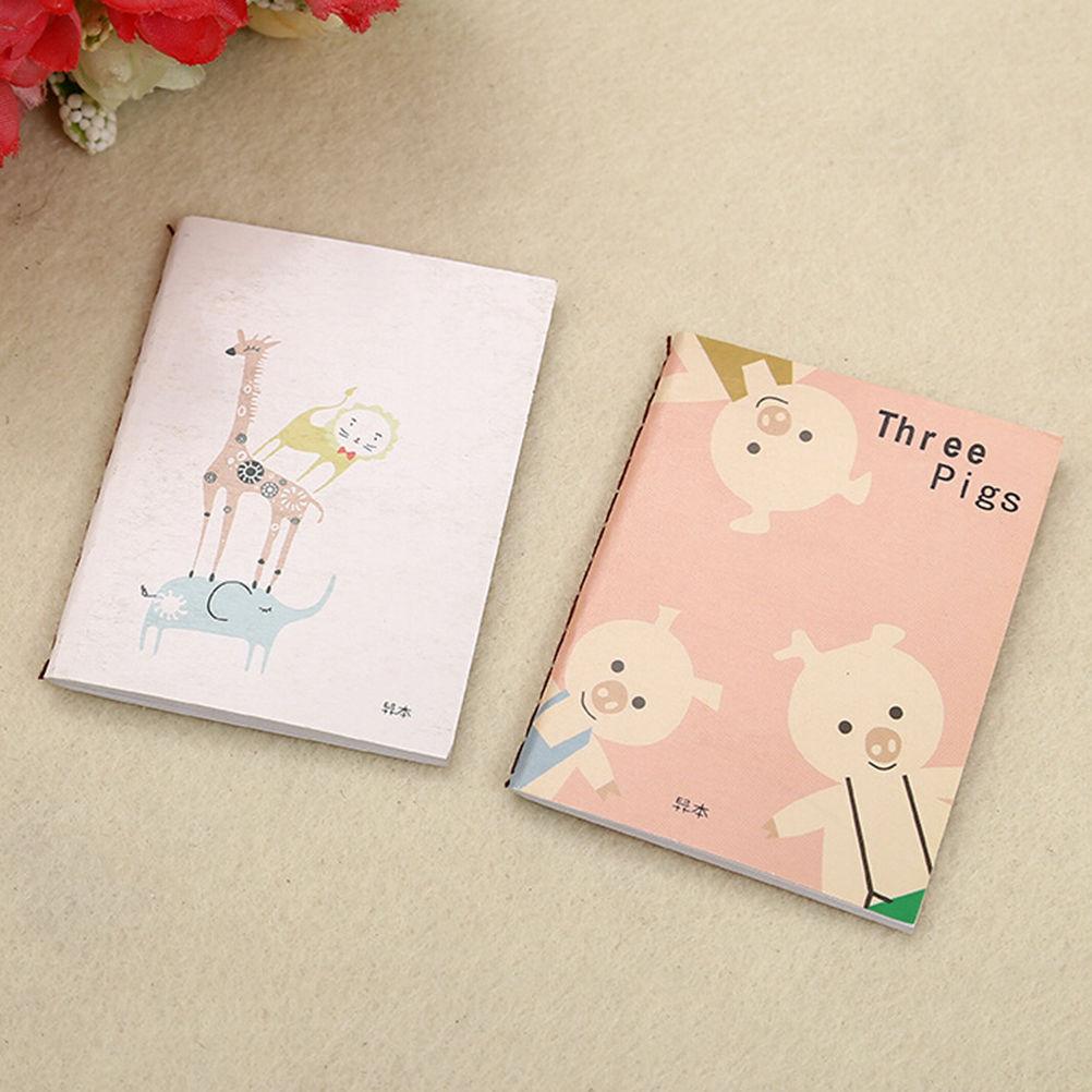 5Pc Cute Mini Cartoon Notebook Handy Pocket Notepad Paper Journal Diary Portable
