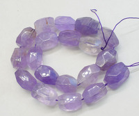 loose beads amethyst baroque faceted 15*20mm for making jewelry 14inch FPPJ wholesale