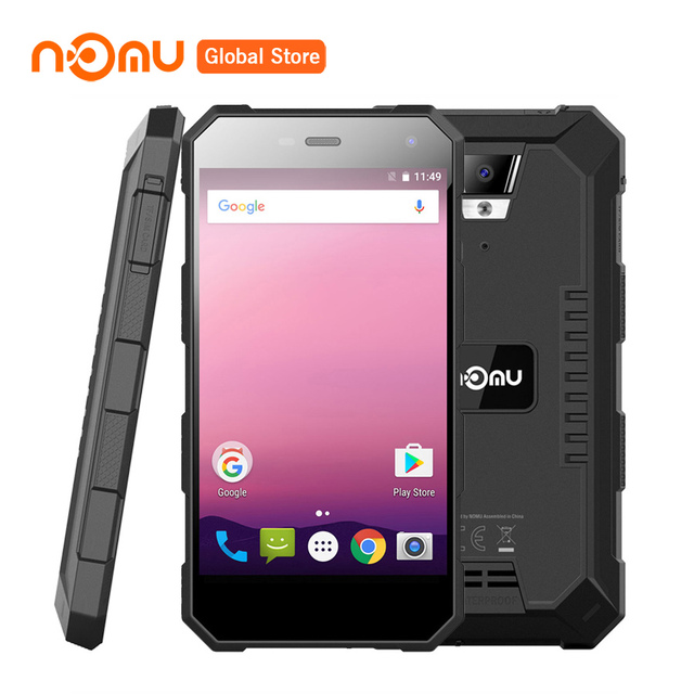 "Nomu S10 Pro IP68 Waterproof Mobile Phone 5000mAh MTK6737T Quad Core Android 7.0 5.0""HD 8.0MP 3GB RAM 32GB Quick Charge"