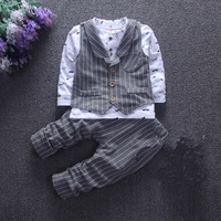 3Pcs Baby Boy Gentleman Suits Spring Clothes Set Jacket T Shirt Pants Boys Long Sleeve Cotton