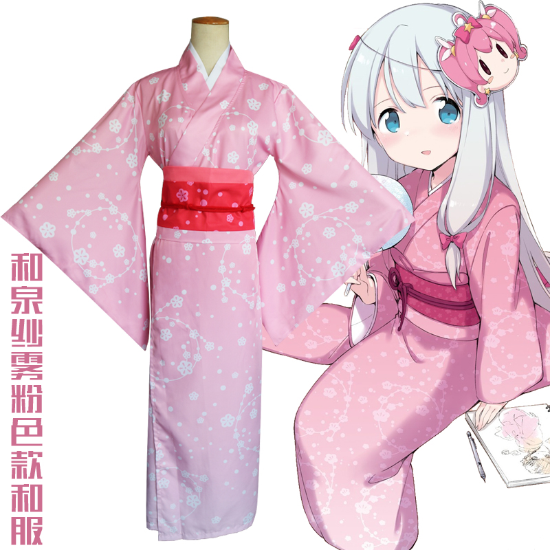 Hot Anime eromanga sensei cosplay Izumi Sagiri cos Halloween party cos female Japanese sweet cherry kimono costume